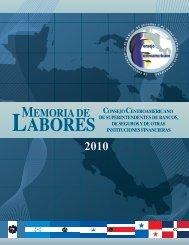 Memoria - Consejo Centroamericano de Superintendentes de ...