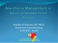 Anesthesia Management in Adult congenital heart ... - RM Solutions