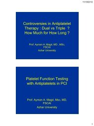 Controversies in Antiplatelet Therapy : Dual vs Triple ... - RM Solutions