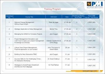 Training Program - Project Management Institute: Arabian Gulf ...