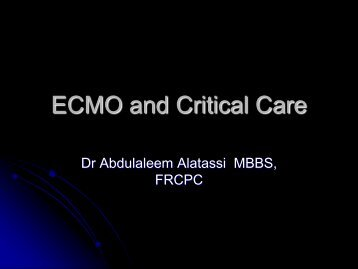 ECMO and Critical Care - RM Solutions