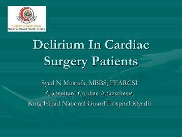 Delirium In Cardiac Surgery Patients - RM Solutions