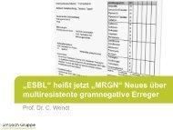 ESBL heißt jetzt MRGN - St.-Vincentius-Krankenhaus Speyer