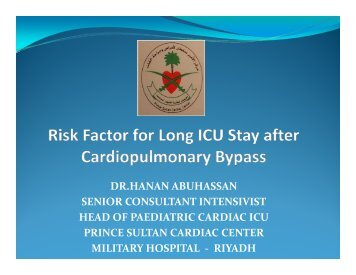 Risk Factor for Long ICU Stay After Cardiopulmonary ... - RM Solutions
