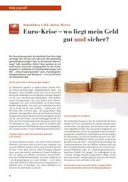 Euro-Krise – wo liegt mein Geld gut und sicher?