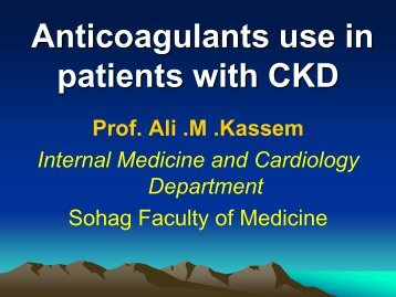 Anticoagulants use in patients with CKD - RM Solutions