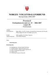 Møte 1 mars 2006 - Norges Volleyballforbund