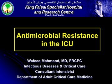 Infections in ICU - RM Solutions