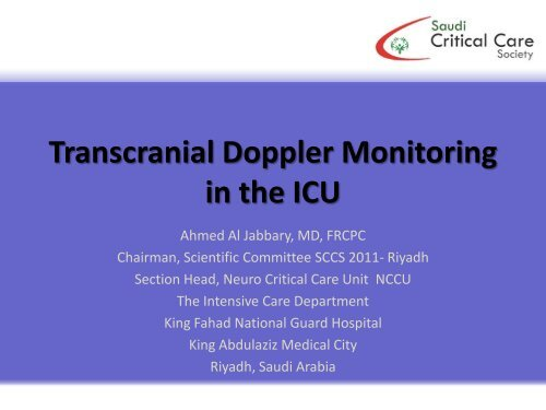 Transcranial Doppler Monitoring in the ICU - RM Solutions