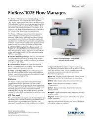 FloBoss 107E Flow Manager. - Emerson Process Management ...