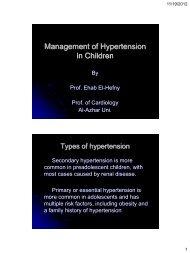 Management of Hypertension in Children - RM Solutions