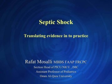 Septic Shock - RM Solutions