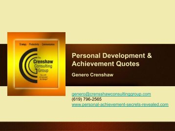 Personal Development & Achievement Quotes - BOOST Best of Out ...