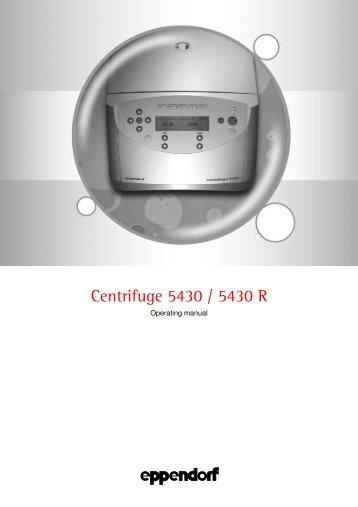 Centrifuge 5430 / 5430 R