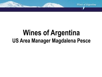 Diapositiva 1 - Wines Of Argentina
