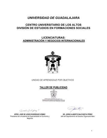 Taller de publicidad - Centro Universitario de los Altos - Universidad ...