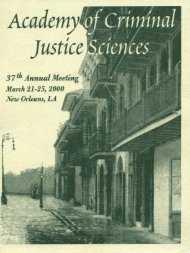 2000 Annual Meeting Program - Academy of Criminal Justice ...