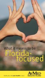 What it means to be Florida-focused - AvMed