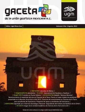 Editor: Ligia Pérez-Cruz Volumen II No. 5 Agosto, 2012 - UGM