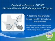 Evaluation Process: CDSMP Chronic Disease Self-Management ...