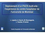 Déploiement d'un PACS multi-site : l'expérience du centre ...
