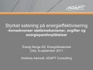 Hvite sertifikater/ Energispareforpliktelser - Energi Norge