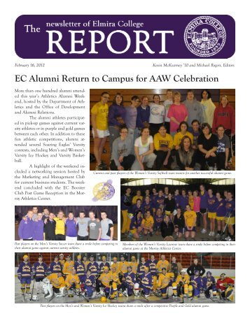 The Report for February 16, 2012 EC Alumni - Elmira College