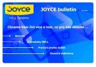 Novinky IT produkty WELL Provizní prodej služeb ... - JOYCE ČR, s.r.o.