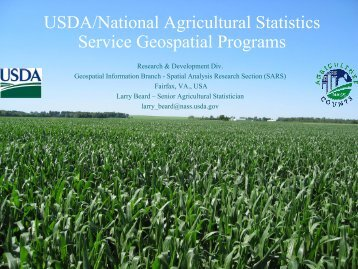USDA/National Agricultural Statistics Service Geospatial Programs