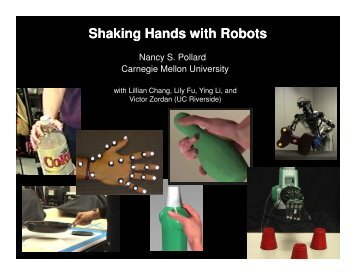 Shaking Hands with Robots - OLYMPUS - Carnegie Mellon University