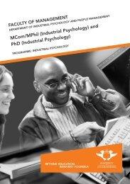 MComIndPsy or DCom DPhil Ind Psy.pdf - University of Johannesburg