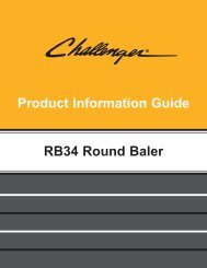 features and benefits challenger® rb34 round baler - Milton CAT