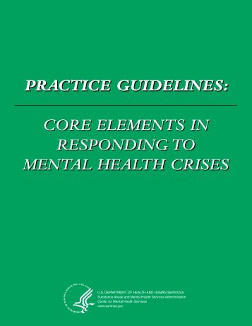 Practice Guidelines: Core Elements for Responding to Mental Health