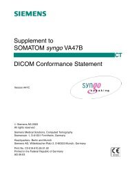 SOMATOM syngo VA47C DICOM Conformance Statement