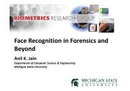 Face Recognition in Forensics and Beyond - Biometrics Research ...