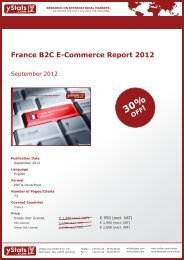 France B2C E-Commerce Report 2012 - yStats.com