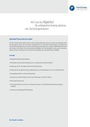 Wir sind die Agentur für erfolgreiche Kommunikation von ...