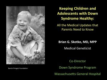 Keeping Children and Adolescents with Down Syndrome Healthy: