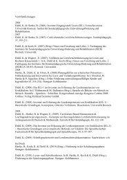 Veröffentlichungen 2006 Diehl, K. & Hartke, B. (2006). - Institut für ...
