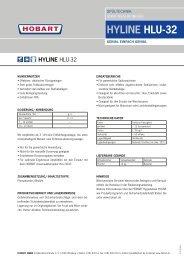 HYLINE HLU-32 - HOBART GmbH