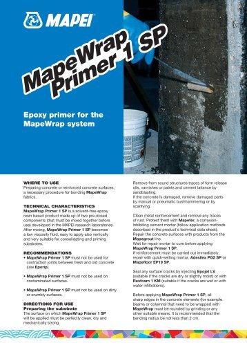 MapeWrap Primer 1 SP MapeWrap Primer 1 SP - Mapei