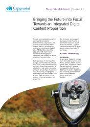 Bringing the Future into Focus: Towards an Integrated ... - Capgemini