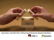 Symantec and Red Hat: Delivering Enterprise-Ready Solutions