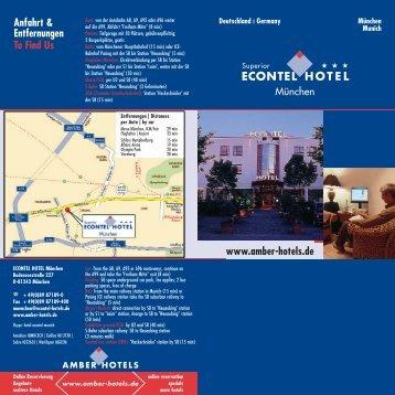 www.amber-hotels.de Anfahrt & Entfernungen To Find Us