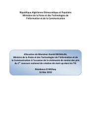 Lire Discours de M.Ministre - Ministère de la poste et des ...