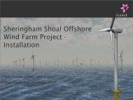 Sheringham Shoal Offshore Wind Farm Project - Installation