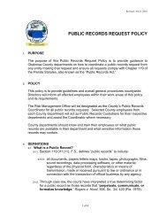 PUBLIC RECORDS REQUEST POLICY - Okaloosa County