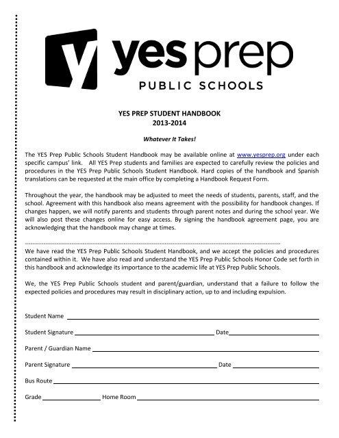 ferpa form in spanish  West Student Handbook 15-15.pdf - YES Prep Public Schools