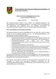 Niederschrift - Mitgliederversammlung - kassenverwalter.de