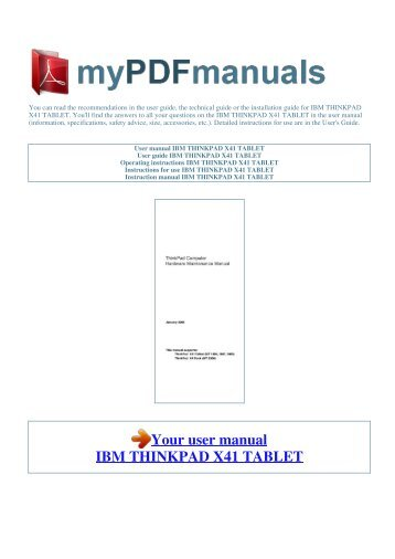 thinkpad rh yumpu com Notebook Computer Manuals Computer Manual